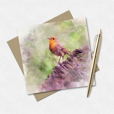 Robin Watercolour Greeting Card