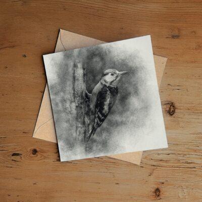 Woodpecker Drawing Greeting Card