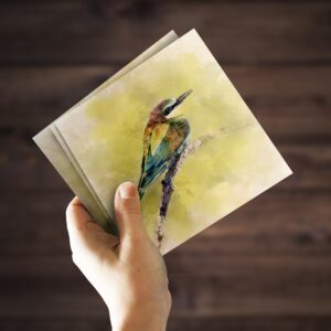Bee-eater Watercolour Greeting Card