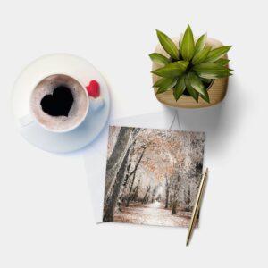 Winter Walk Blank Greeting Card