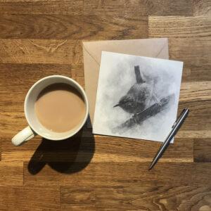Wren Art Greeting Card